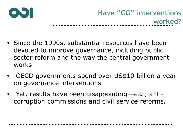 "Have ""GG"" interventions"