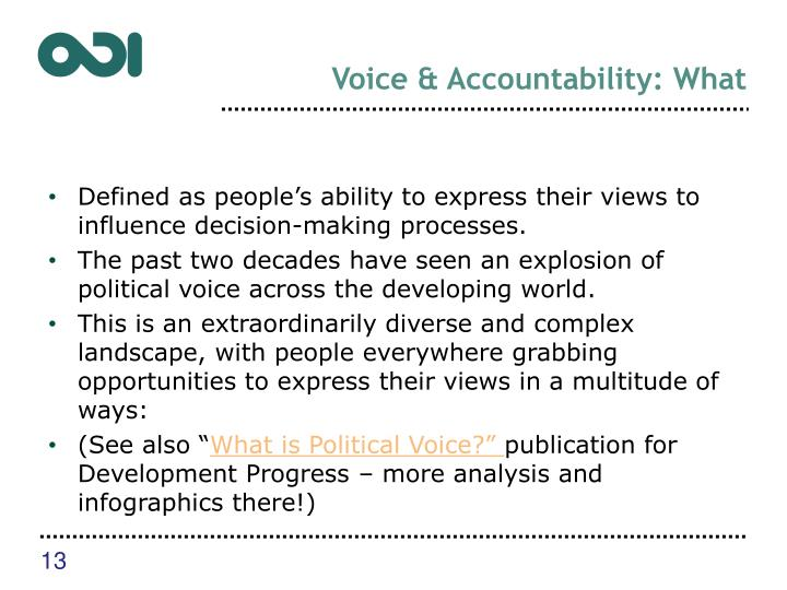 Voice & Accountability: What