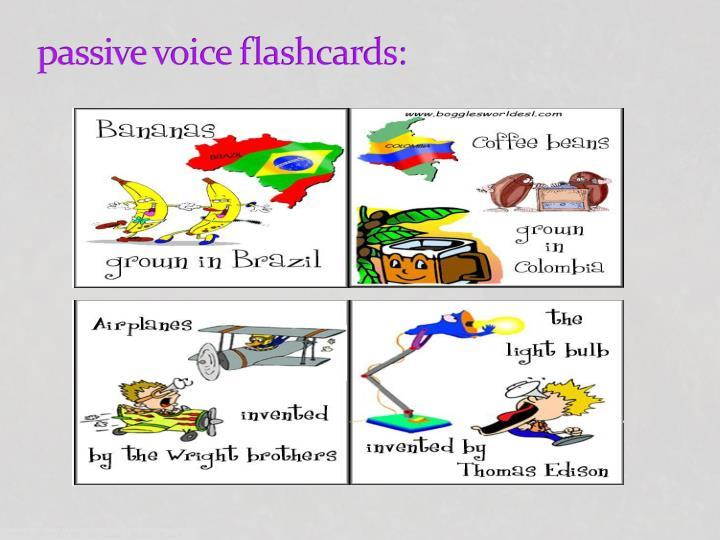 passive voice flashcards: