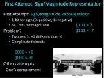 first attempt sign magnitude representation