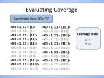 evaluating coverage