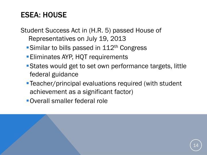 ESEA: House