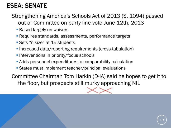 ESEA: Senate