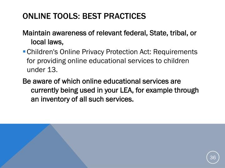 Online Tools: Best Practices