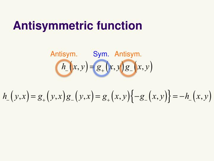 Antisymmetric