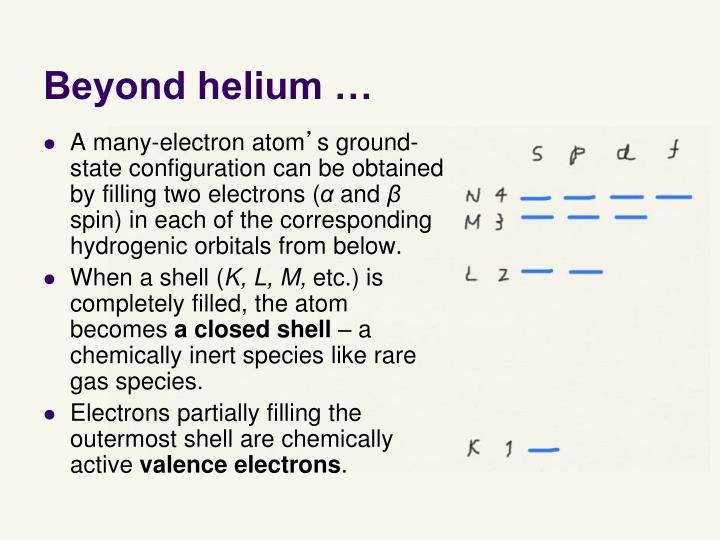 Beyond helium …