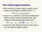 the orbital approximation3