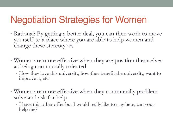 Negotiation Strategies for Women