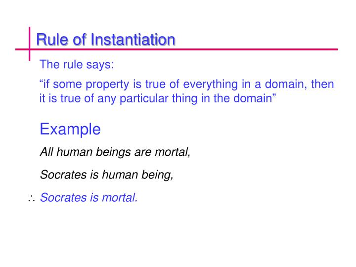 Rule of Instantiation