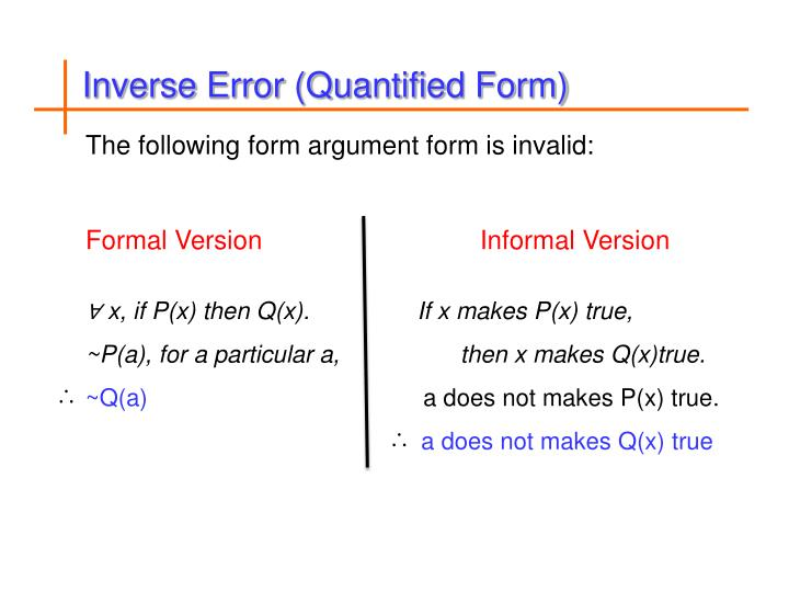 Inverse Error (Quantified Form)