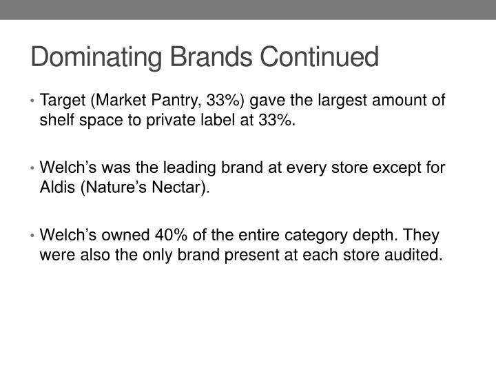 Dominating Brands Continued