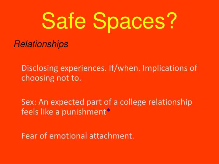 Safe Spaces?