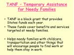 tanf temporary assistance for needy families