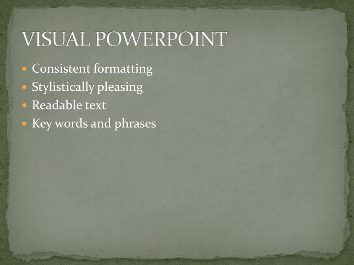 VISUAL POWERPOINT
