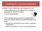 looking for counterexamples