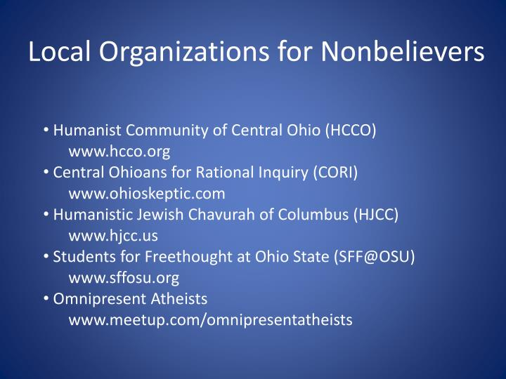 Humanist Community of Central Ohio (HCCO)