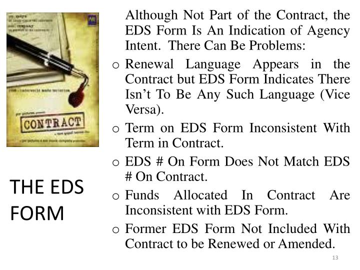 THE EDS FORM