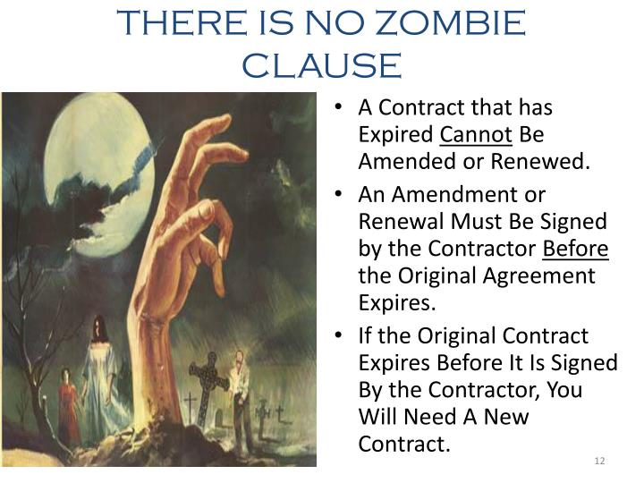 THERE IS NO ZOMBIE CLAUSE