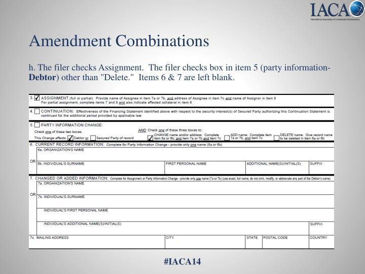 Amendment Combinations