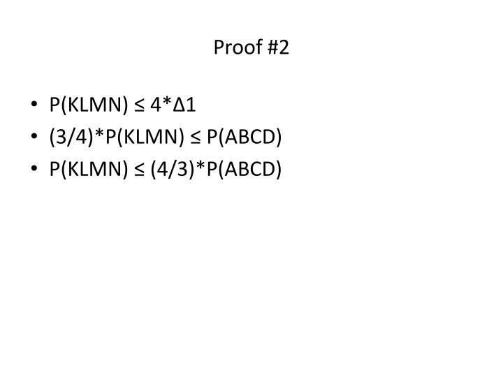 Proof #2