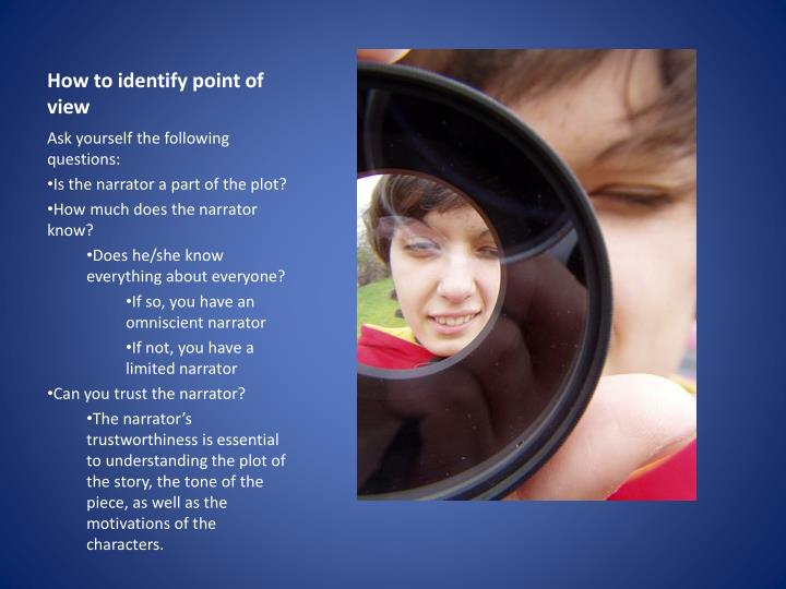 How to identify point of view