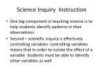 science inquiry instruction