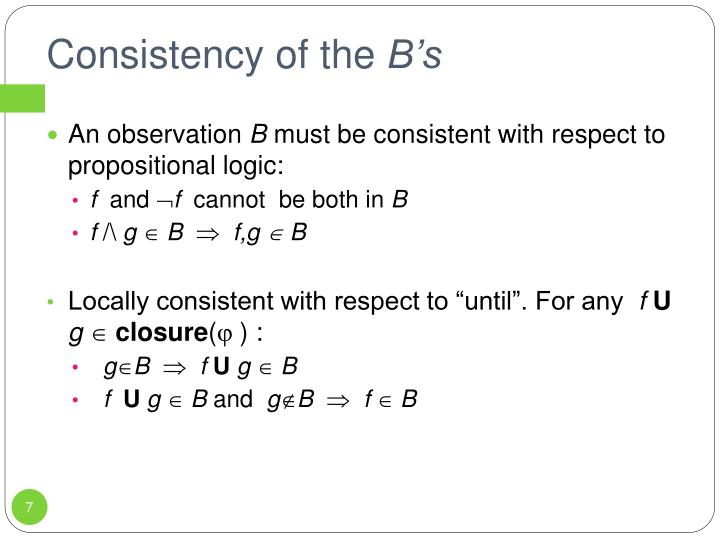 Consistency of the