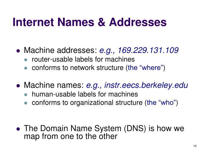 Internet Names & Addresses