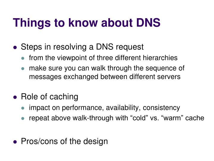 Things to know about DNS