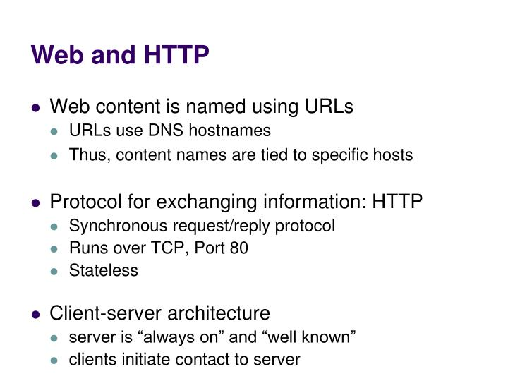 Web and HTTP
