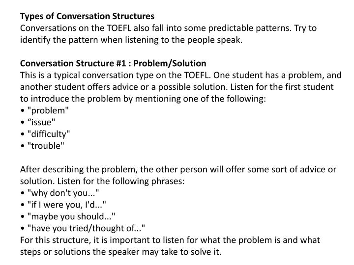 Types of Conversation Structures