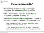 programming and oop