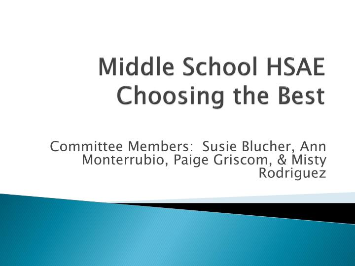 Middle School HSAE
