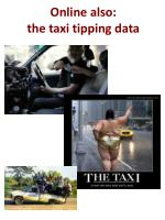 online also the taxi tipping data