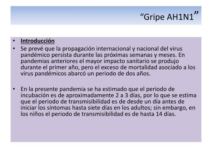 """""""Gripe AH1N1"""