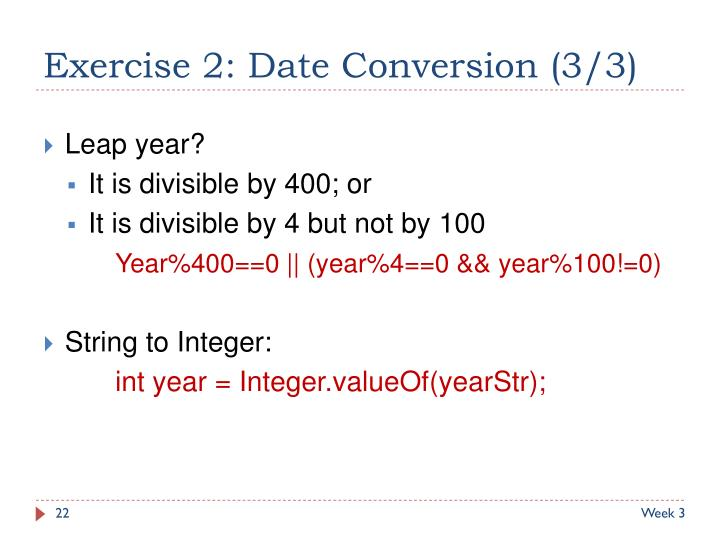 Exercise 2: Date Conversion