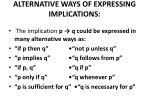 alternative ways of expressing implications