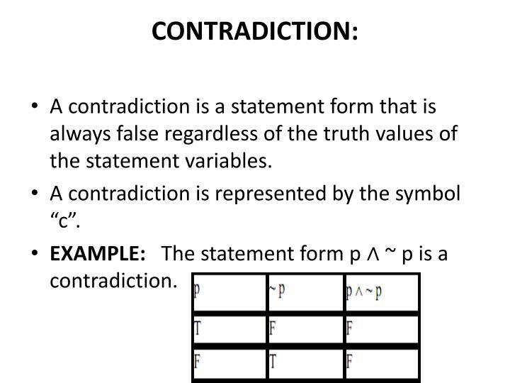 CONTRADICTION: