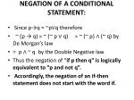 negation of a conditional statement