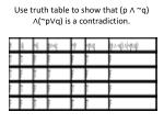 use truth table to show that p q p q is a contradiction