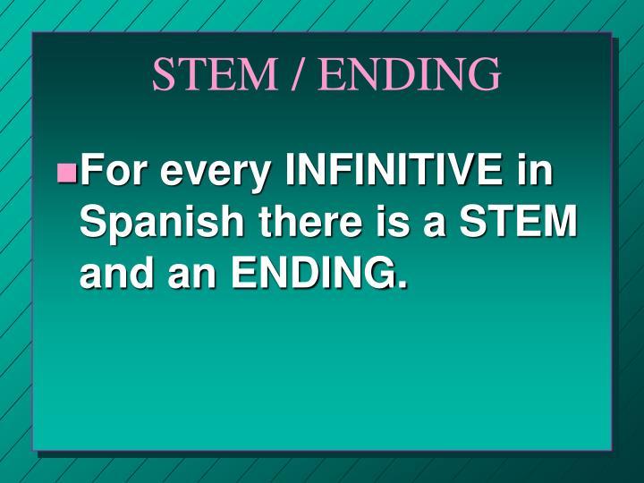 STEM / ENDING