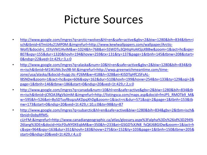 Picture Sources