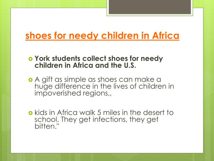 shoes for needy children