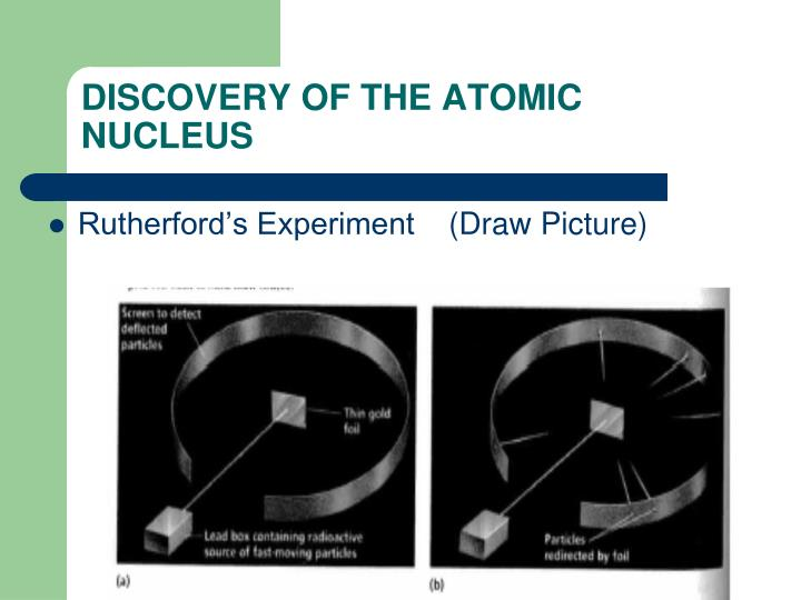 DISCOVERY OF THE ATOMIC NUCLEUS