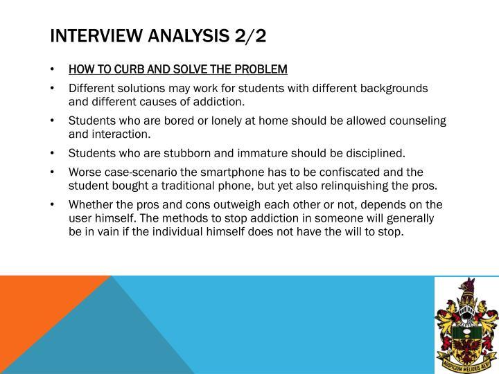 Interview analysis