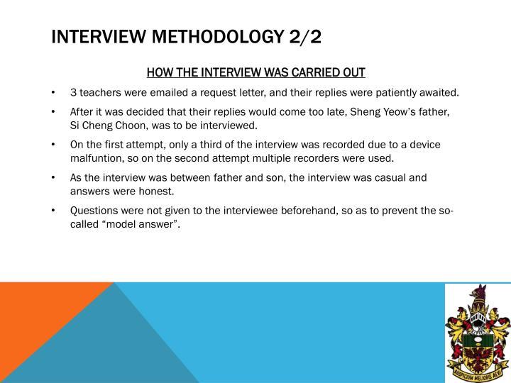 Interview methodology