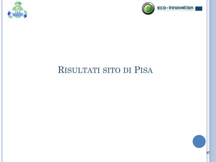 Risultati sito di Pisa