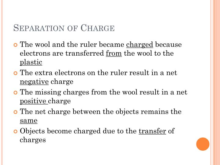 Separation of Charge