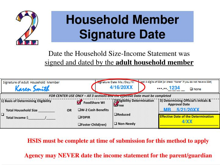 Household Member Signature Date