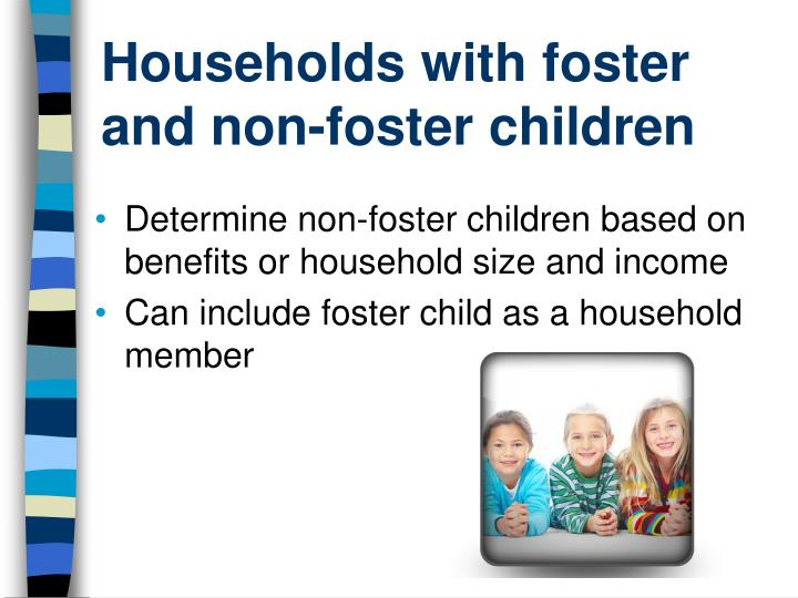 Households with foster and non-foster children